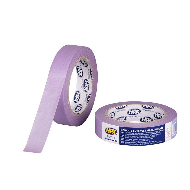Afplakbanden en afdekfolie - PW2550-Delicate_surfaces_tape_4800-Masking_tape-purple-25mm_x_50m-5425014229462-HPX